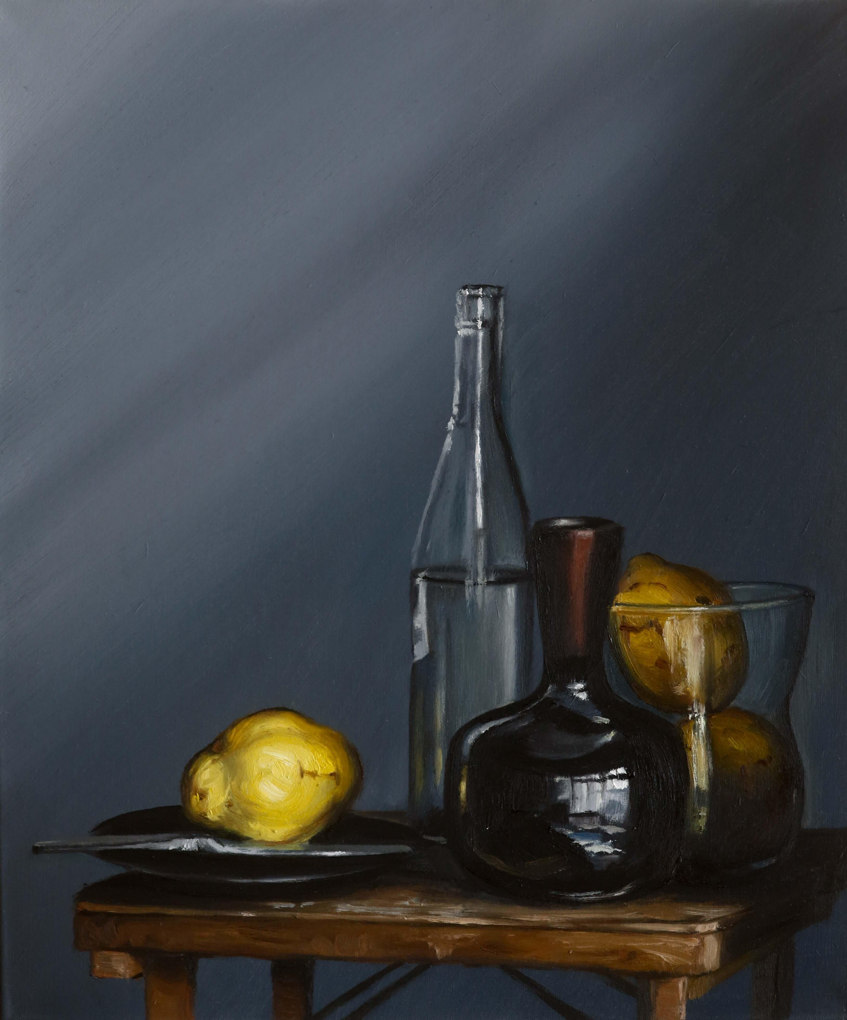'Quitte, Flasche und Vase'