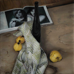 Still-Life with Quinces and Bottle