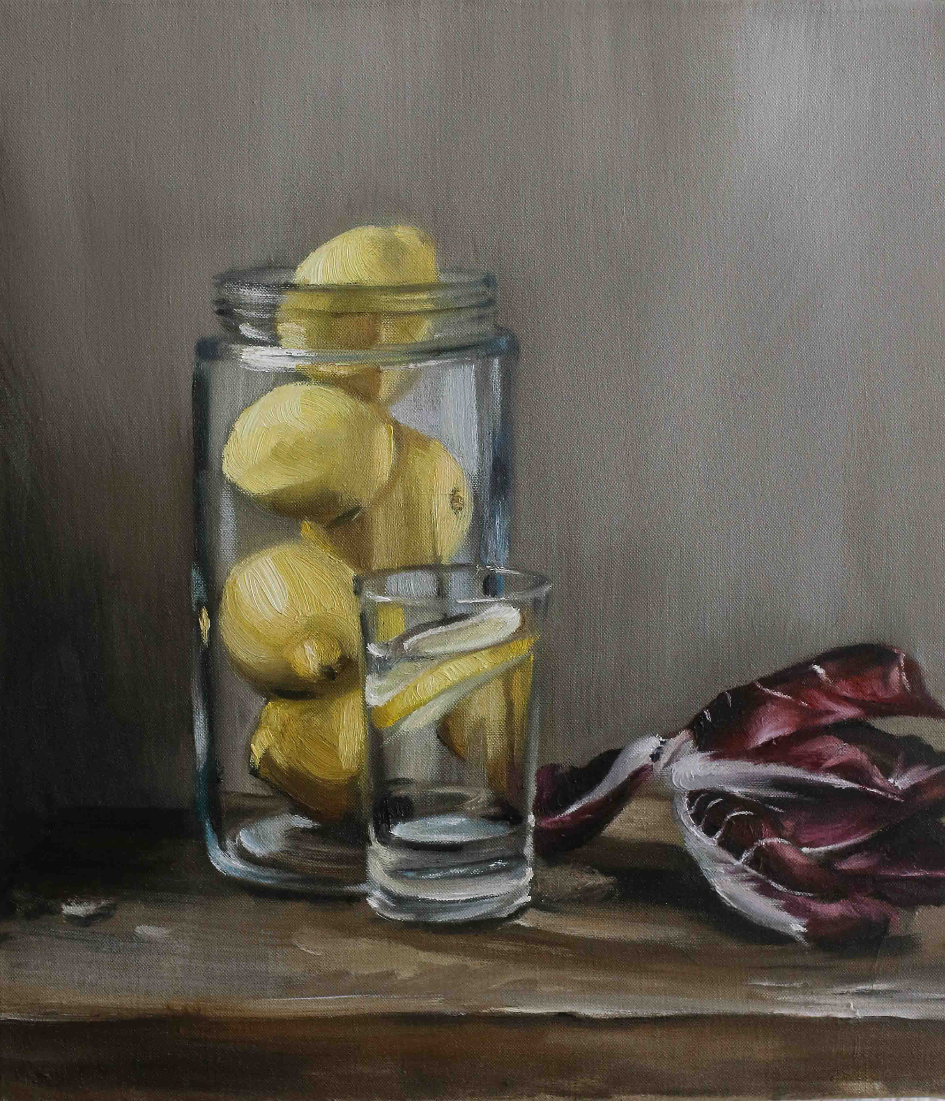Lemons in a Glass, Radicchio