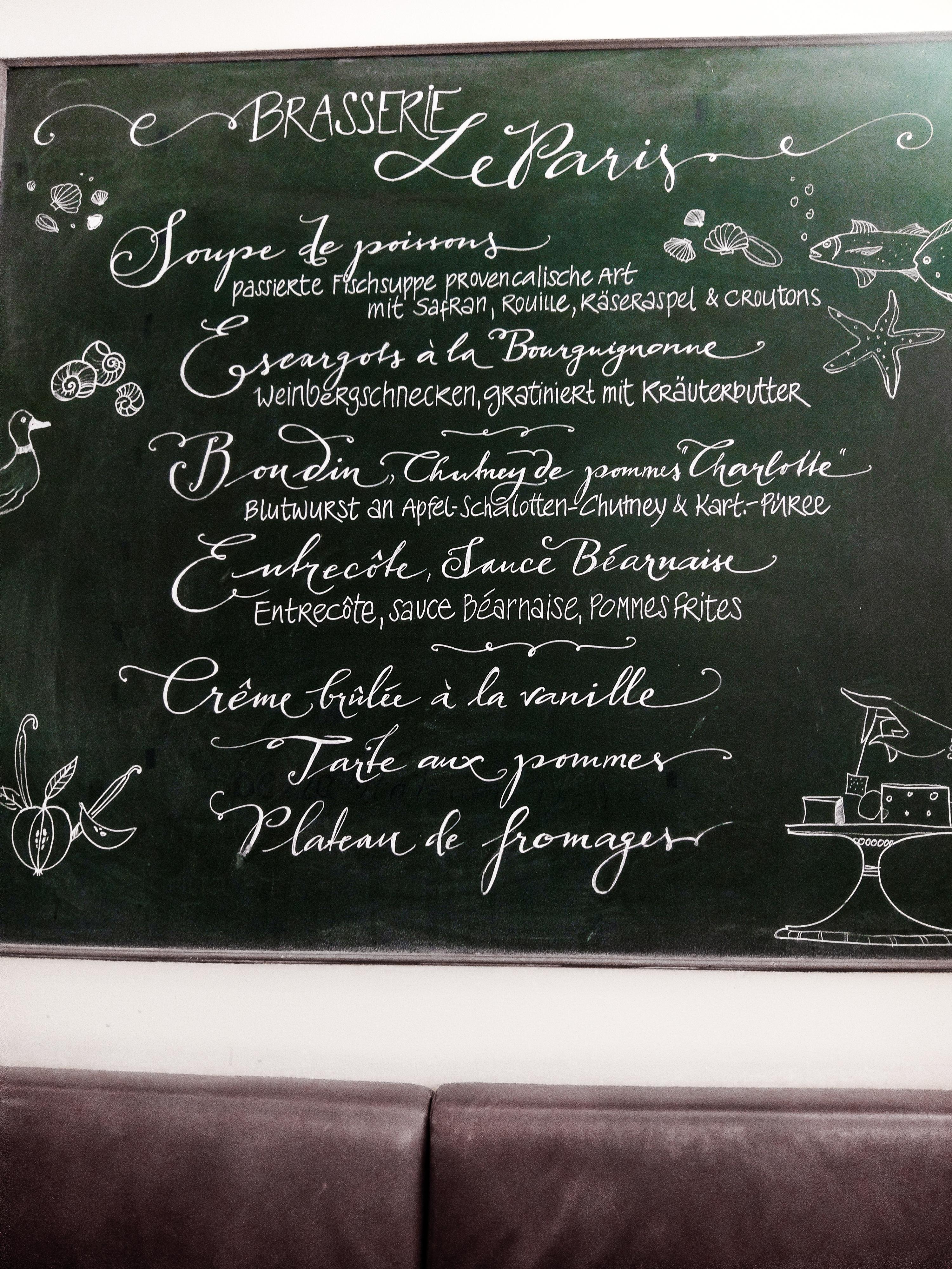 Menu Français