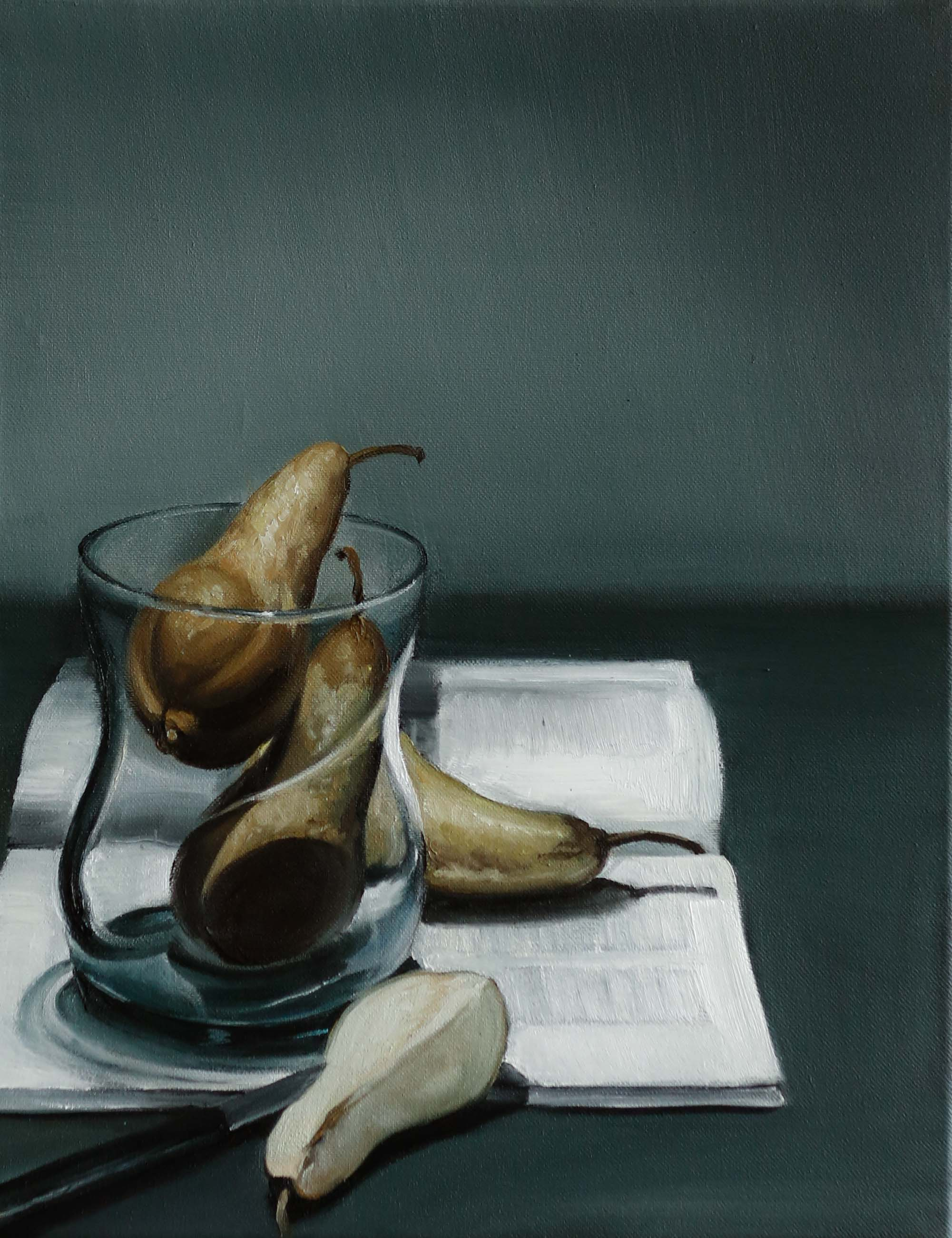 Pears with Art Magazine
