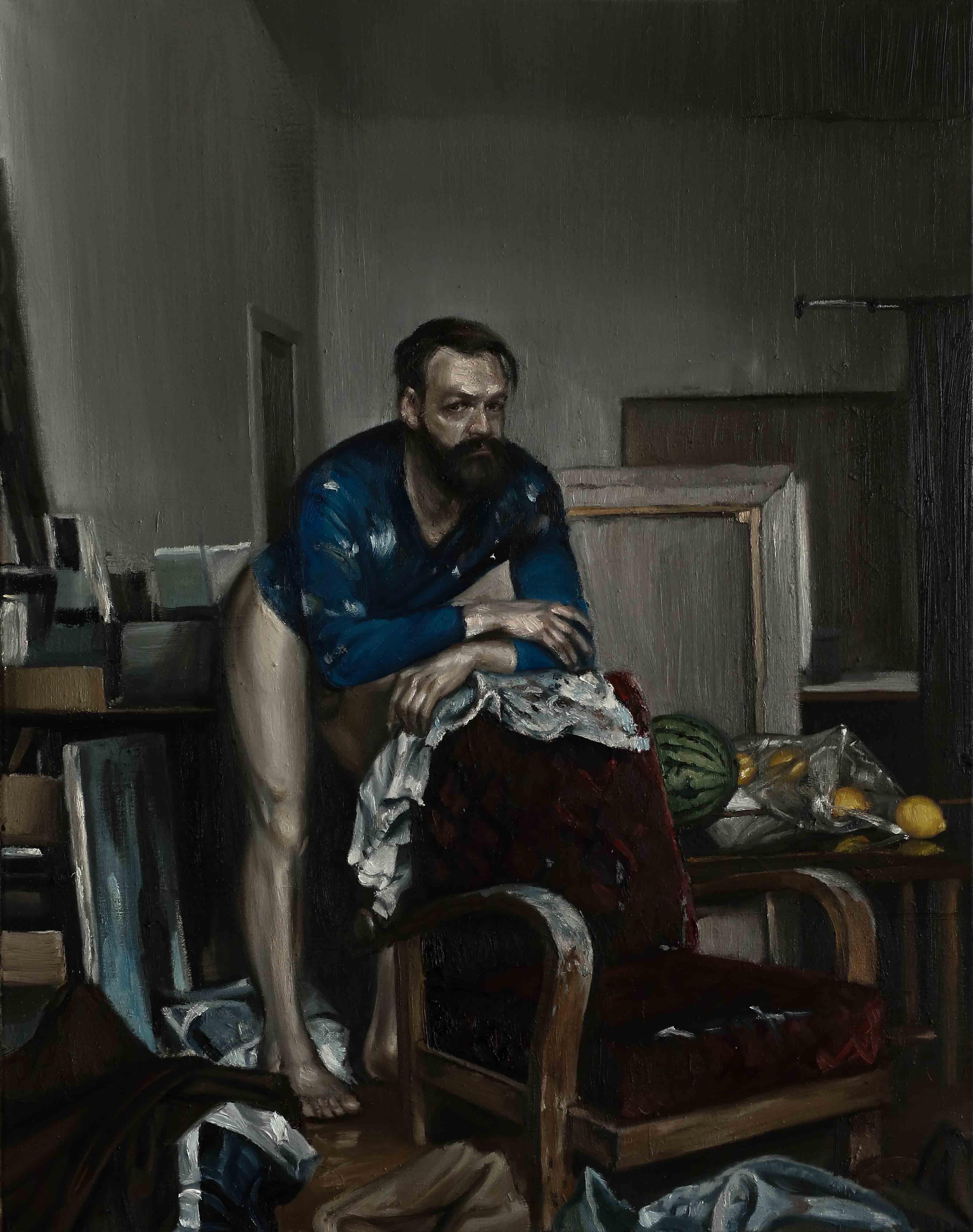Selbstportrait mit Ingres