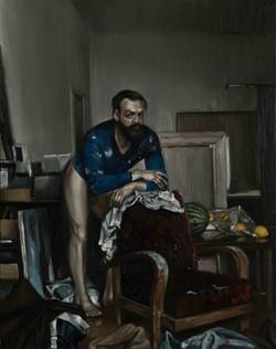 Selbstportrait nach Ingres