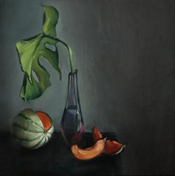 Melone und Blatt