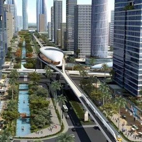 Planning India's first greenfield smart city