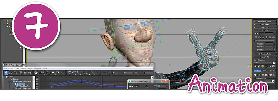 and example of a 3D animation in progress on specialist software