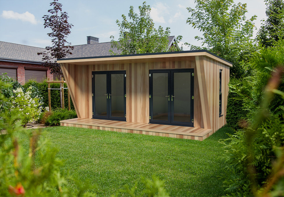 detailed exact 3D replica of wooden garden retreat or office