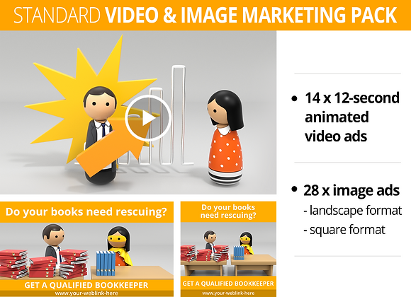 Bookkeeper STANDARD Video and Image Marketing Pack