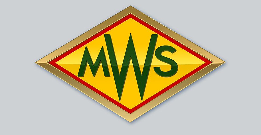3D rendering of diamond shaped logo with copper plate and metallic red yellow and green paint