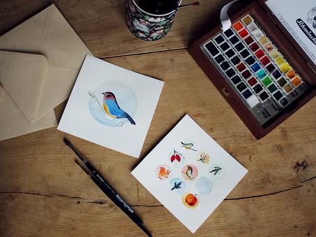 Vánoční pohlednice jako malované
