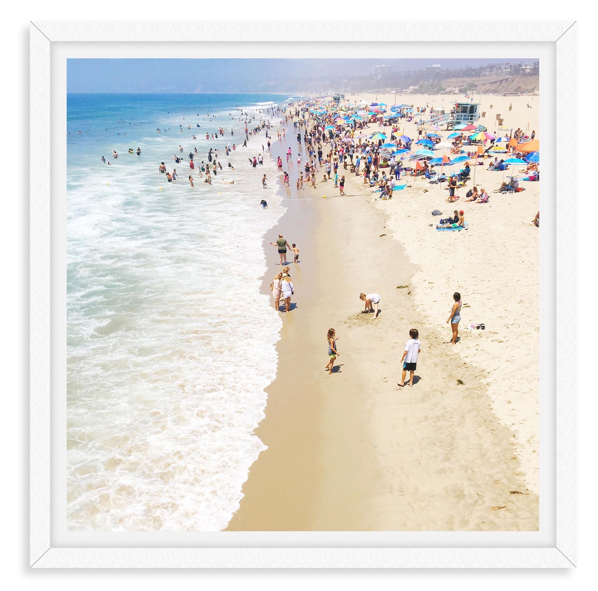 beach day waves blue sky santa monica ca