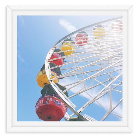 ferris wheel colorful wall art leasing l