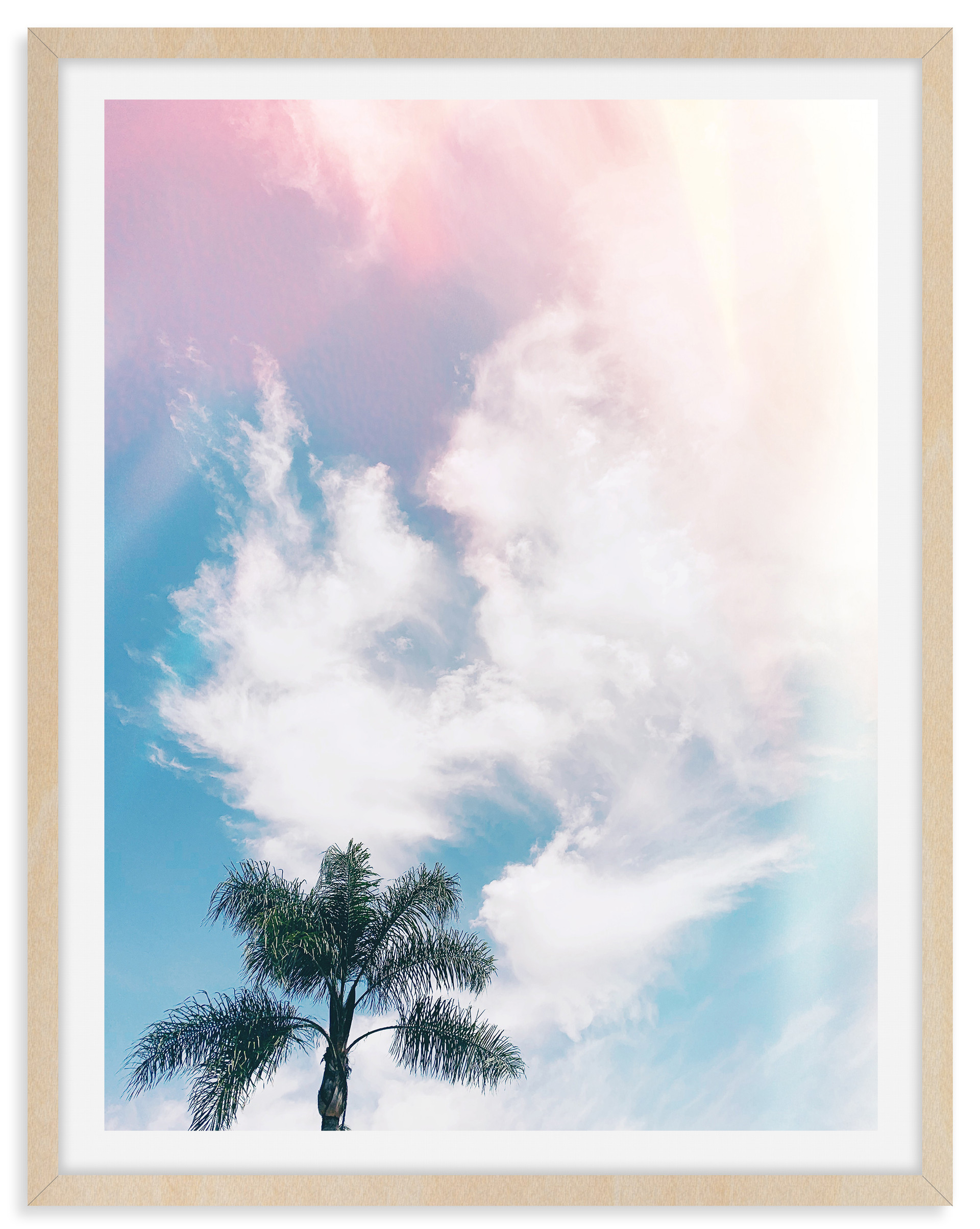 dreamy sky palm tree california wall art