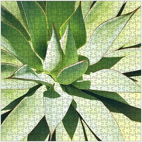 """Green Agave"" - 500 Piece Fine Art Premium Puzzle"