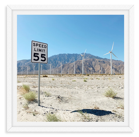 55 miles per hour highway windmills wall