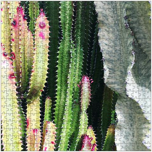 """""""Rainbow Cactus 2"""" - 500 Piece Fine Art Premium Puzzle"""