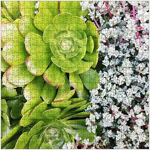 """""""Spooning Succulents"""" - 500 Piece Fine Art Premium Puzzle"""