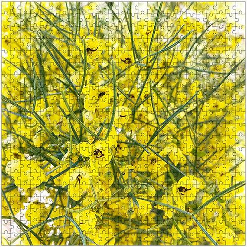 """""""Little Yellow Flowers"""" - 500 Piece Fine Art Premium Puzzle"""