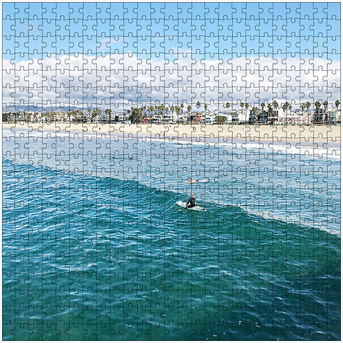 """Sitting Surfer"" - 500 Piece Fine Art Premium Puzzle"