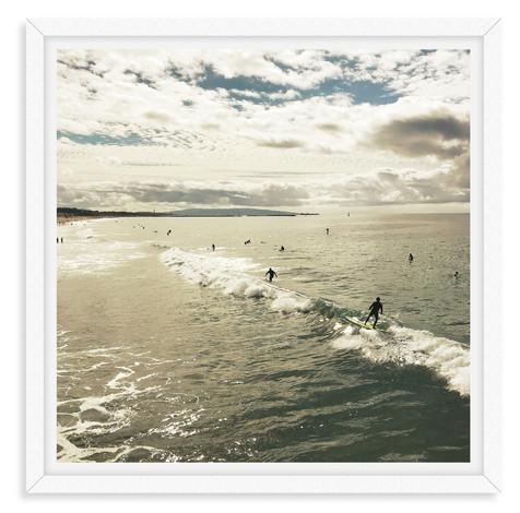 surfers waves venice california sunrise