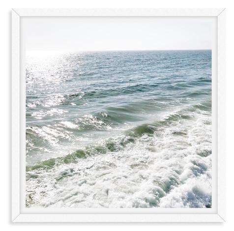 frosty beach waves blue sky malibu calif
