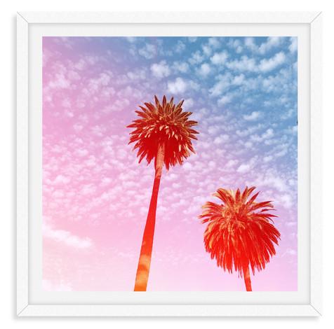palm tree sunshine california sunset pin