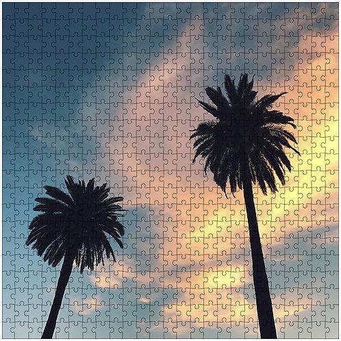 """Swirling Sunset"" - 500 Piece Fine Art Premium Puzzle"