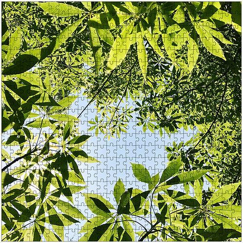 """Leafy Frame"" - 500 Piece Fine Art Premium Puzzle"