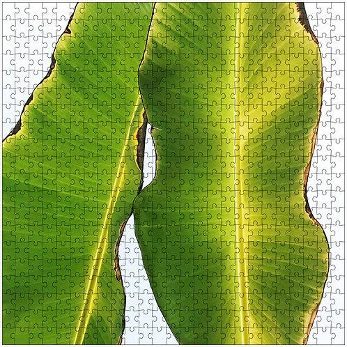 """Banana Leaves 1"" - 500 Piece Fine Art Premium Puzzle"