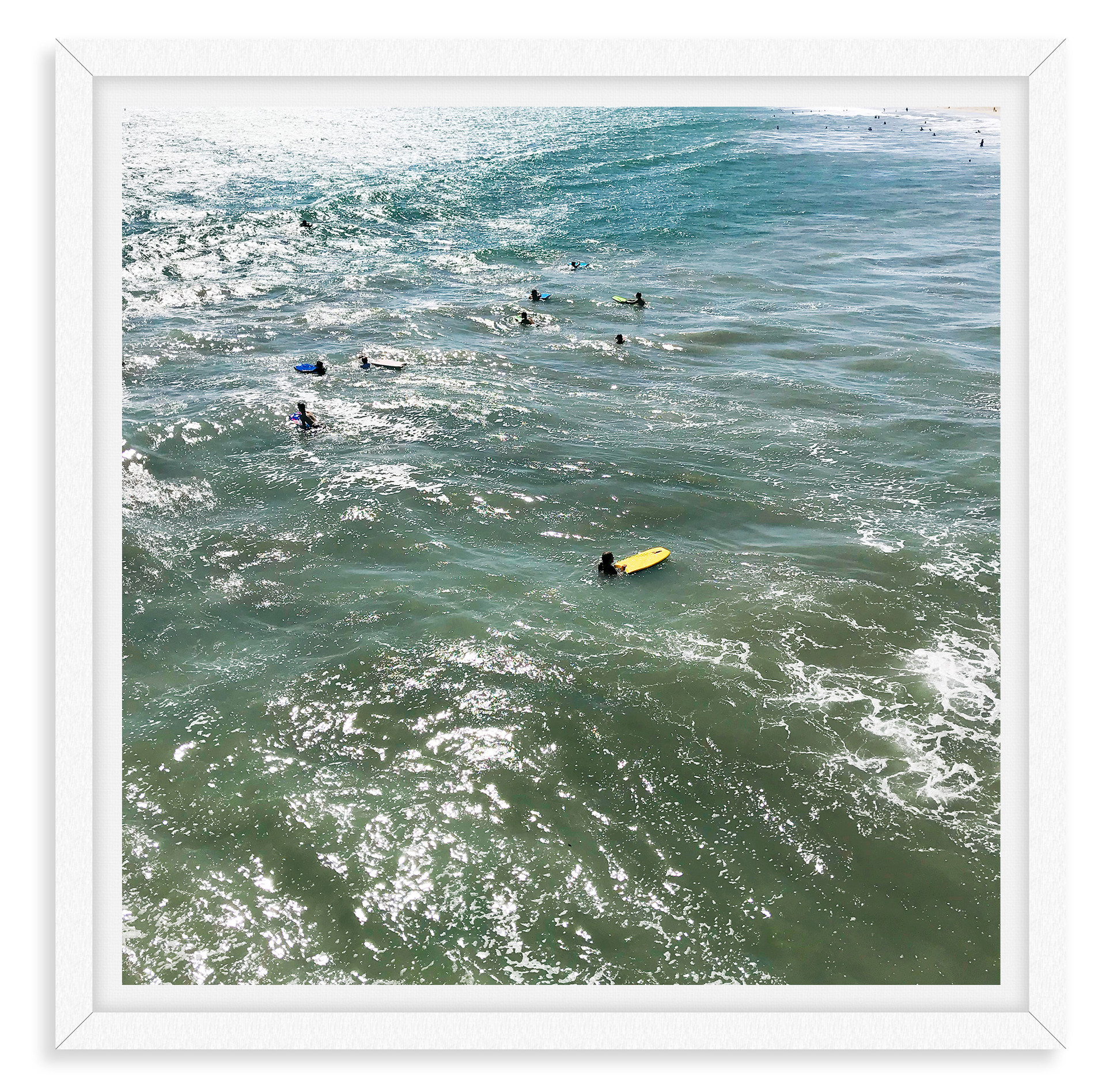 surfers ocean santa monica california wa