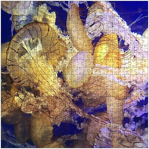 """Royal Jellyfish"" - 500 Piece Fine Art Premium Puzzle"