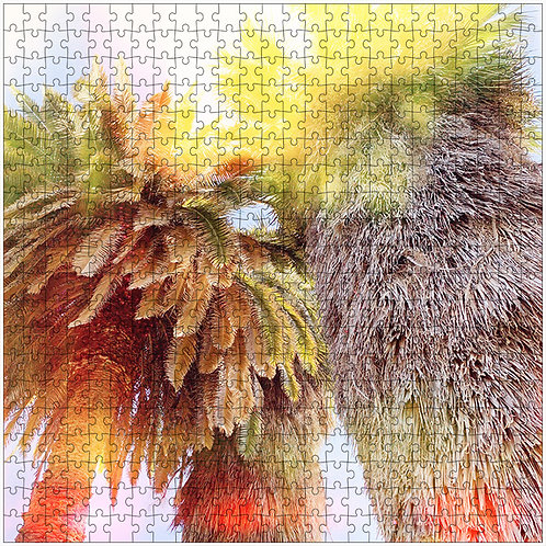 """""""Wrapped in Yellow"""" - 500 Piece Fine Art Premium Puzzle"""