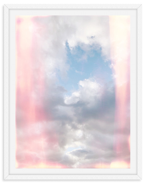 colorful gray cloudy sky sunset wall art