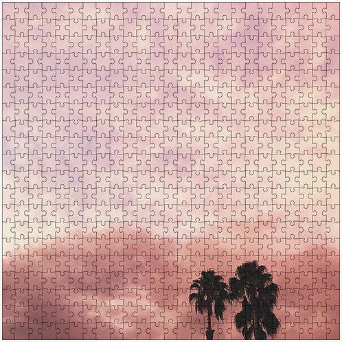 """Pink Gradient Sky"" - 500 Piece Fine Art Premium Puzzle"