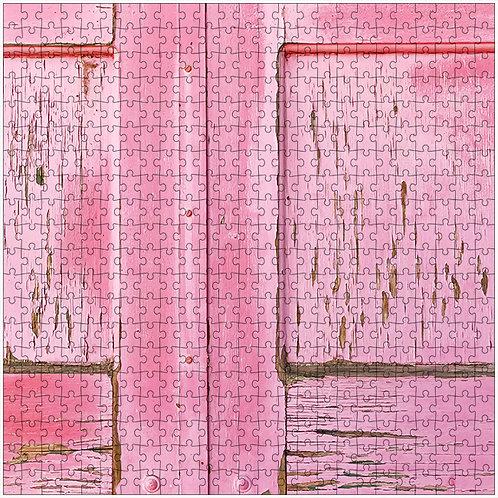 """""""Pink Door"""" - 500 Piece Fine Art Premium Puzzle"""