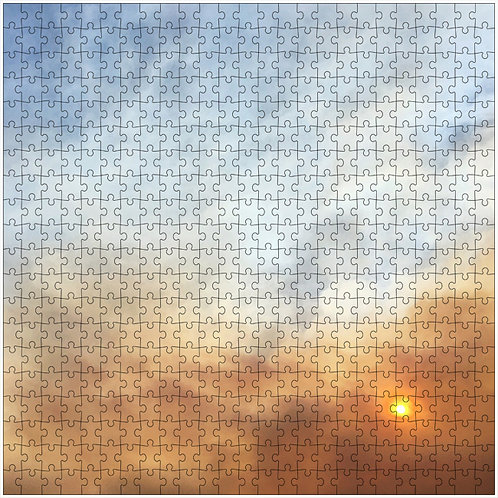 """Smoky Sunset"" - 500 Piece Fine Art Premium Puzzle"