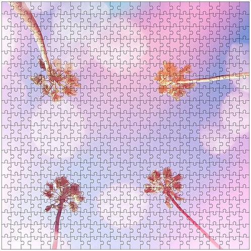 """""""Bubble Gum Palms 1"""" - 500 Piece Fine Art Premium Puzzle"""