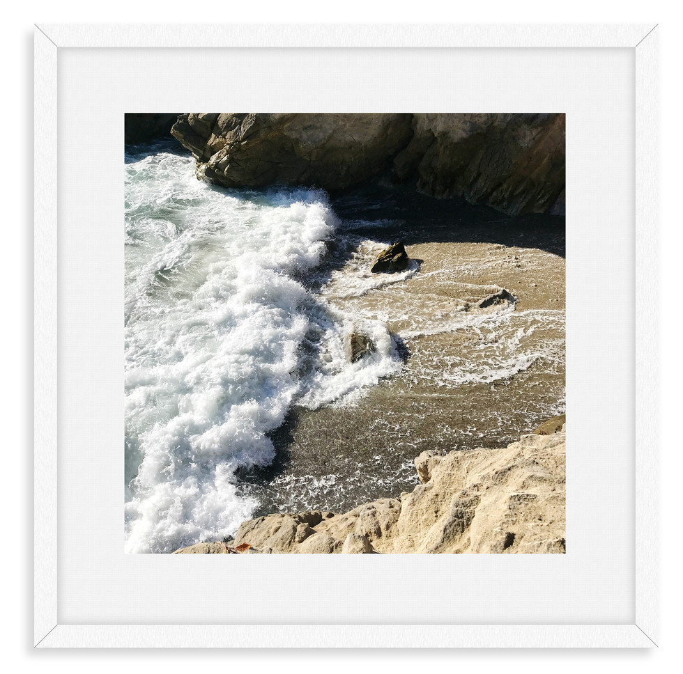 malibu cliffs beach frosty waves wall ar