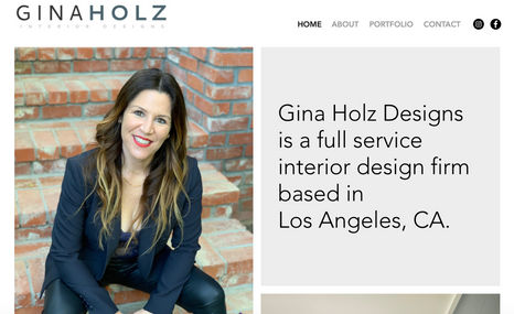 Gina Holz Designs Interior design firm in Los Angeles.