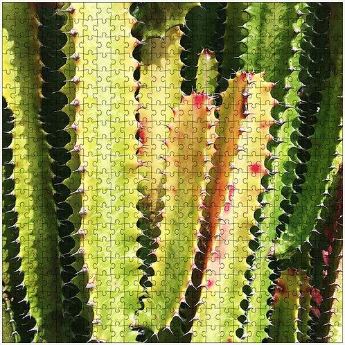 """""""Rainbow Cactus 1"""" - 500 Piece Fine Art Premium Puzzle"""