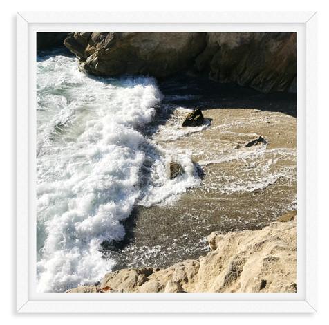 malibu cliffs beach frosty waves wall ar