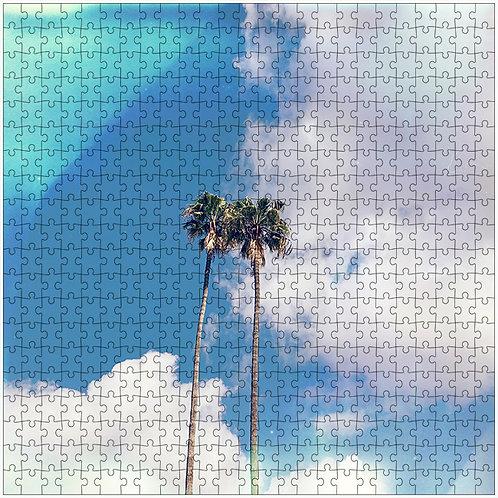 """Couple in the Clouds"" - 500 Piece Fine Art Premium Puzzle"