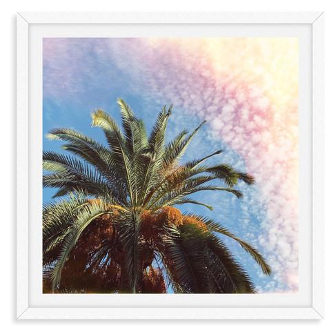 palm tree sunshine california wall art l