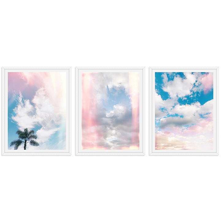 colorful cloudy sky sunset wall art seri
