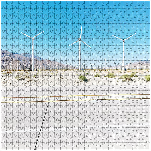 """Three Windmills"" - 500 Piece Fine Art Premium Puzzle"