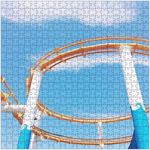 """""""Roller Coaster"""" - 500 Piece Fine Art Premium Puzzle"""