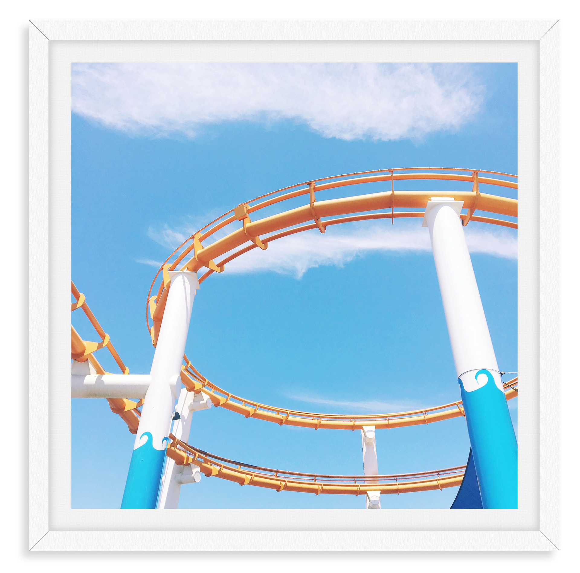 roller coaster colorful wall art leasing