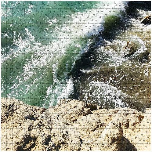 """Rocky Wave 1"" - 500 Piece Fine Art Premium Puzzle"