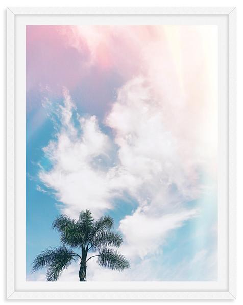 dreamy sky palm tree california wall art
