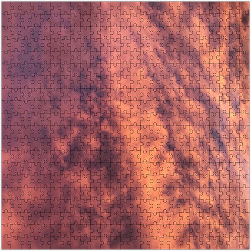 """""""Orange Sky"""" - 500 Piece Fine Art Premium Puzzle"""